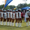 The older Virgin Islands majorettes performing at the V.I. picnic.