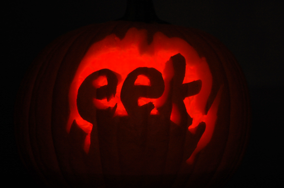 Eek pumpkin carving for the beginner