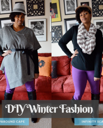 2 DIY Winter Fashion Crafts: Cape &amp; Infinity Scarf Thumbnail