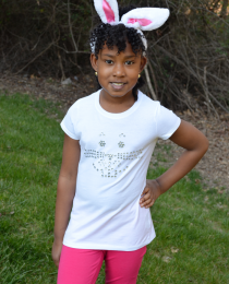 DIY Rhinestone Easter Bunny T-Shirt (with tail!) Thumbnail