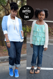Outfits for Two: Cuffed (Hubby) Jeans Thumbnail