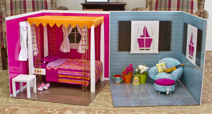 Barbie Bedroom In A Box: Make A DIY Collapsible Room For An 18″ Doll