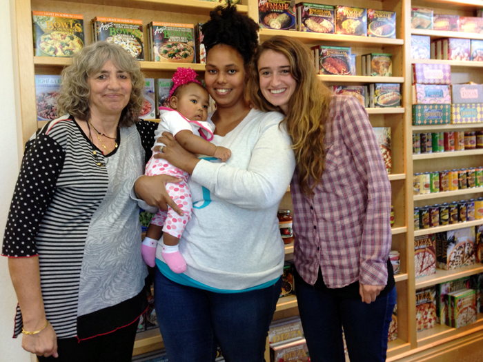 Baby Juliza and I with Rachel and Amy Berliner.