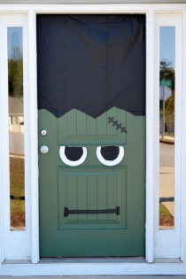 Halloween DIY: Frankenstein Front Door & Pumpkin Thumbnail
