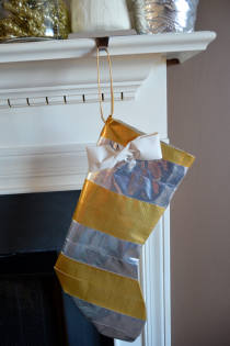 Glam, Metallic Duck Tape Christmas Stocking Thumbnail