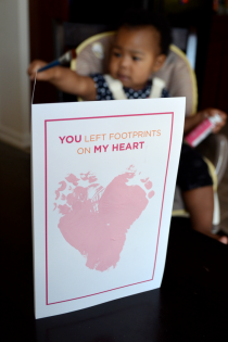 Baby Footprint DIY Valentine's Cards Thumbnail